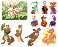 Neopets Art Compilation by ground-lion