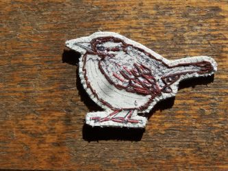 Carolina wren brooch by the-vibrant-city