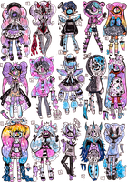CLOSED- XYNTHII 2018 March ADOPTS by Guppie-Vibes