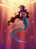 Mermaid with Twisty Tail by DylanBonner