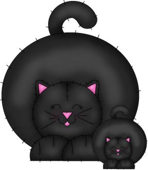 Chunky Momma cat and Kitten by wickedpoison