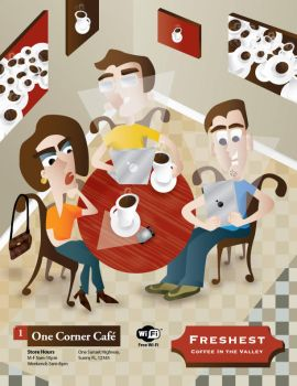 Wi-Fi Cafe Scene by seanHodge