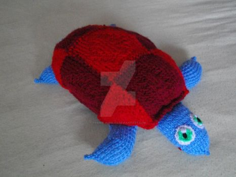 Turtle Doll Twin No. 1 - RED-BLUE (For sale) by Teriko-Bubbles