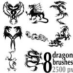 Dragon Brushes For Photoshop by Brushportal