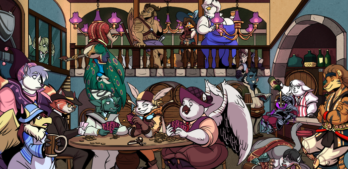 Group Project - A Lively Tavern by volkenfox
