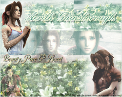 Aerith Gainsborough by OmniaMohamedArt