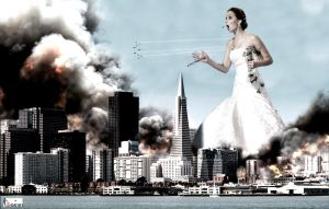 Giantess Jennifer Lawrence - Bridezilla Attacks by GiantessStudios101
