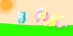 BMO And Fluttershy by RainbowDashArtist