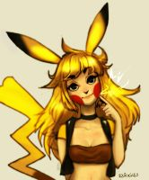 Pikachu Girl by so-squiggly