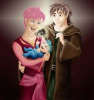 Remus, Tonks and Teddy by Tempest-Revolution