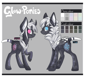 Glow-Ponies - Open Species by why-so-cirrus