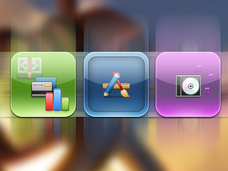 WIP Elementary HD '3 New Icons by ChikenArt