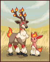 Contest entry: Fire Sawsbuck and Deerling