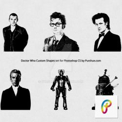 Purshue Doctor Who custom shapes by Purshue