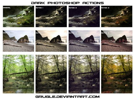 Dark Photoshop Actions Set by Grugle