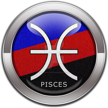Pisces - Polyamory Pride  Button by lovemystarfire