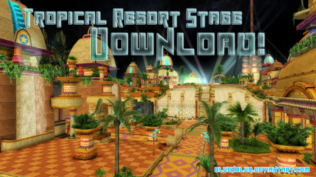 MMD Download: Tropical Resort Stage by BluexBlur