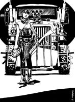Furiosa and War Rig by Paul-Moore