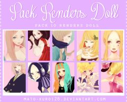 PACK RENDERS DOLL by Mato-Kuroi26
