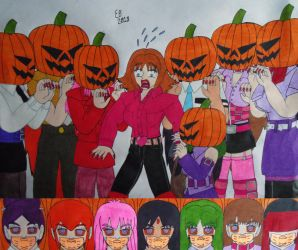 Fear Of The Pumpkin Divas by shnoogums5060