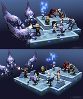 Lowpoly mini Mass Effect scene - lores tex version by Pyroxene