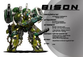 armored slave bison by sekido54