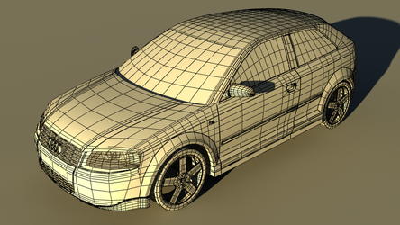 Audi A3 Wireframe by Cooper144