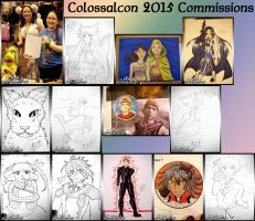 2015 Colossalcon Commissions by kuroitenshi13