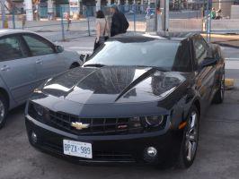 The Black Camaro In The Parking Lot #1 by Neville6000