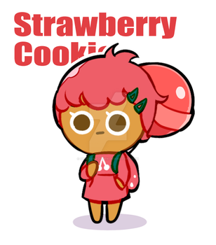 Strawberry Cookie by Ghost-pumpkin