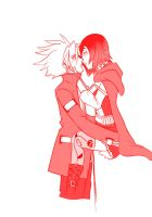 02 Ruby Rose -RWBY- and Ragna bloodedge by mattwilson83
