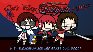 Let's Play Disgaea LIVE, Dood! Card 1 by Spaztique
