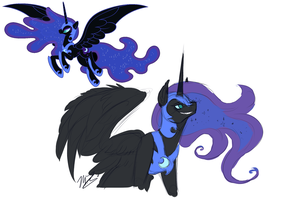 Nightmare Moon by AzulaGriffon