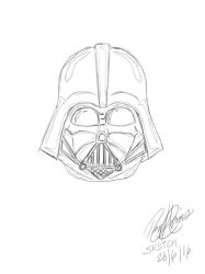 Darth Vader Sketch by Xanatos4