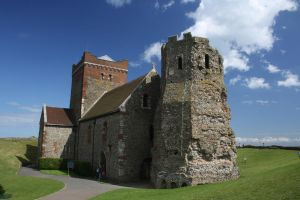 side of  church at dovercastle by loobyloukitty