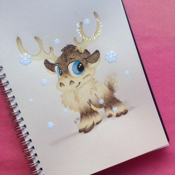 Baby Sven from Frozen by DonnaAtkinsonArt