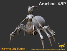 Arachne monster girl planet game WIP by Bullcheese