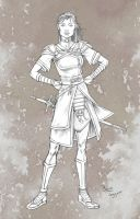Confident Warrior by staino
