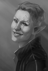 Ariel Lavellan [OC] : Commission by LittleSweetie