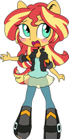 Sunset Shimmer Chibi by kingdark0001