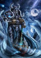 Death Knight, WoW fanart by Symerinart