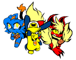 The Final Act Prophet Trio (Ask-TwitchPKMN) by Pioxys