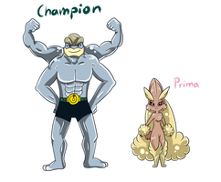 Champion and Prima by PlatinaSena