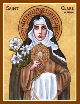 St. Clare of Assisi icon by Theophilia