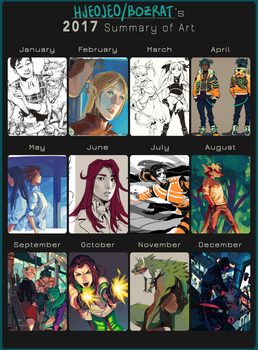 2017 summary of art by HJeojeo