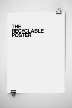 the recyclable poster by grafick