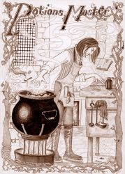 The Potions Master At Work by lizard-spots