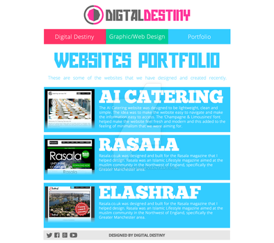 Website Portfolio Page Redesign by DigitallyDestined
