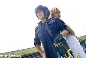 Noctis and Lunafreya Cosplay by raveka