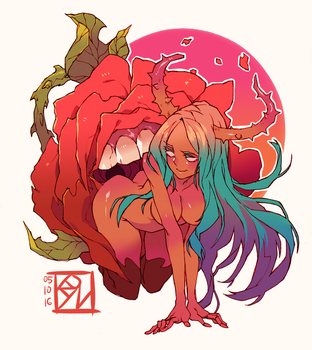 Monstrous Man-Eating Rose by Poch4N